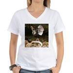 Turkey Flapping Wings Women's V-Neck T-Shirt