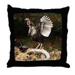 Turkey Flapping Wings Throw Pillow