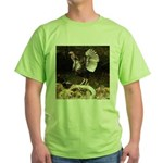 Turkey Flapping Wings Green T-Shirt