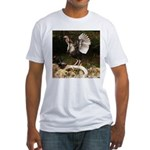 Turkey Flapping Wings Fitted T-Shirt