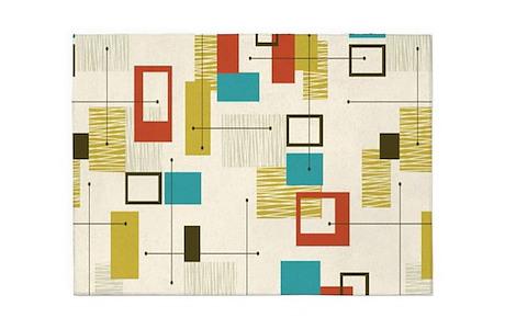 mid century modern rugs Mid Century Modern Area Rugs   CafePress mid century modern rugs