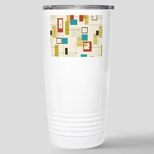 Fun Geometric, Mid Cent Stainless Steel Travel Mug