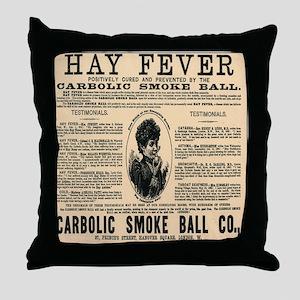 Carbolic Smoke Ball Throw Pillow