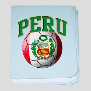 Flag of Peru Soccer Ball baby blanket
