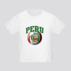Flag of Peru Soccer Ball T-Shirt