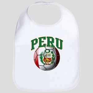 Flag of Peru Soccer Ball Baby Bib