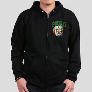 Flag of Peru Soccer Ball Sweatshirt