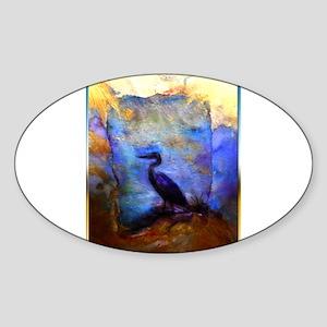 Beautiful great heron, wildlife art Sticker