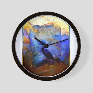 Beautiful great heron, wildlife art Wall Clock