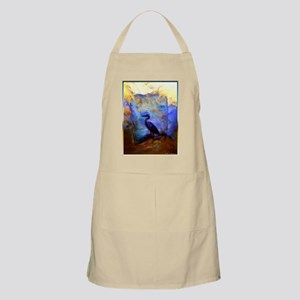 Beautiful great heron, wildlife art Apron