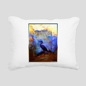 Beautiful great heron, wildlife art Rectangular Ca