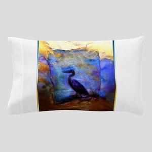 Beautiful great heron, wildlife art Pillow Case