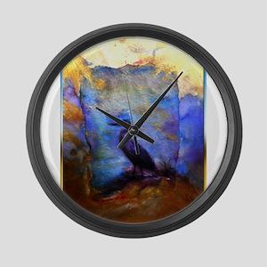 Beautiful great heron, wildlife art Large Wall Clo