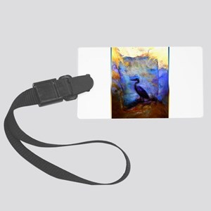 Beautiful great heron, wildlife art Luggage Tag