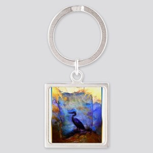 Beautiful great heron, wildlife art Keychains