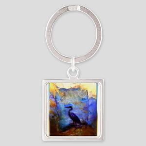Beautiful great heron, wildlife art Keychains