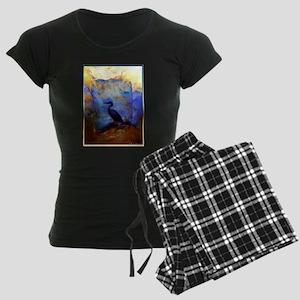 Beautiful great heron, wildlife art Pajamas