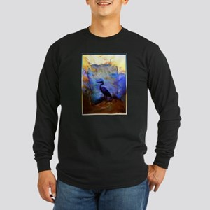 Beautiful great heron, wildlife art Long Sleeve T-