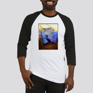 Beautiful great heron, wildlife art Baseball Jerse