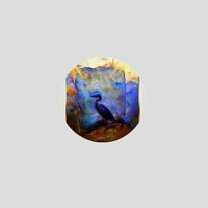 Beautiful great heron, wildlife art Mini Button