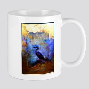 Beautiful great heron, wildlife art Mugs