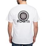 Hashtag #Darts White T-Shirt