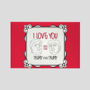 Trump Loves Trump Rectangle Magnet