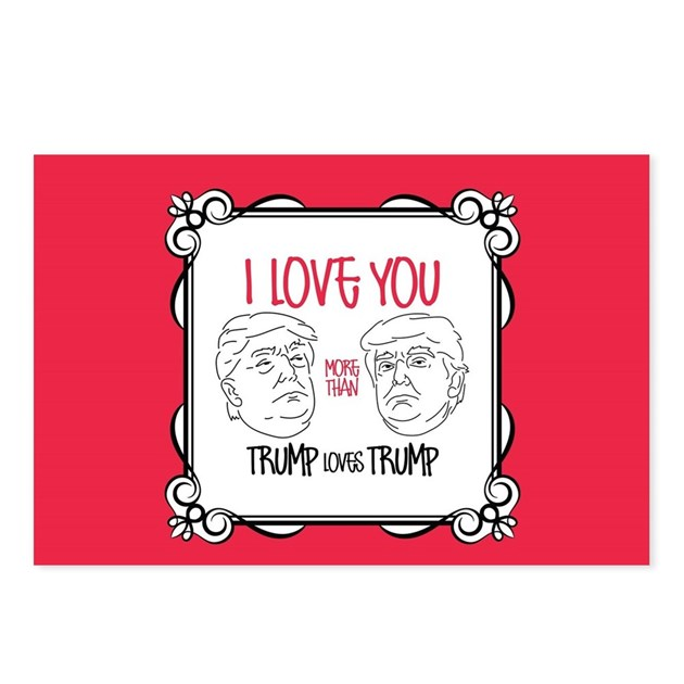 Trump Loves Trump Postcards (Package Of 8) By Vday