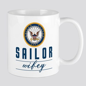 Navy Sailor Wifey Mug