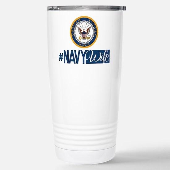#NavyWife Stainless Steel Travel Mug