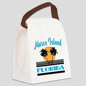Marco Island Florida Canvas Lunch Bag