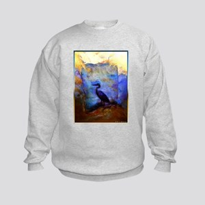 Beautiful great heron, wildlife art Sweatshirt