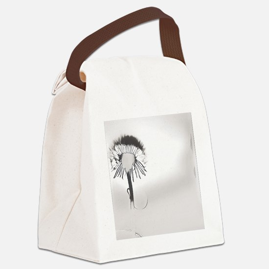 Funny Dandelion seeds blowing in the wind Canvas Lunch Bag