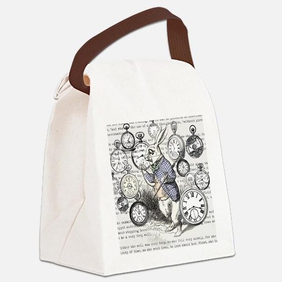 Cute Lewis carroll Canvas Lunch Bag