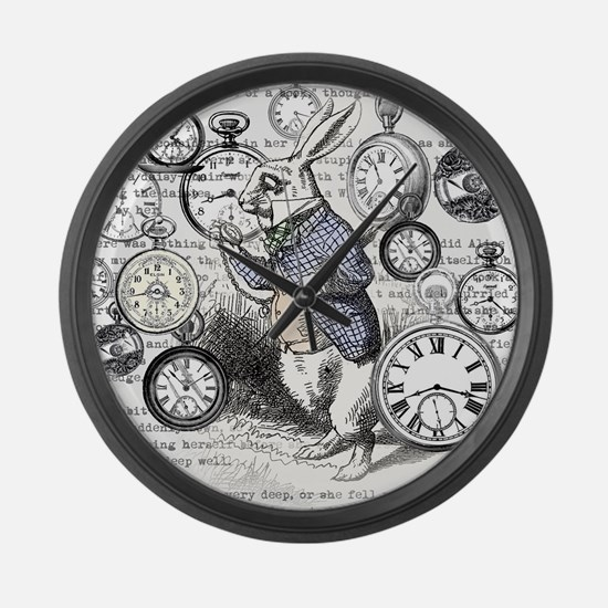 Cute Lewis carroll Large Wall Clock