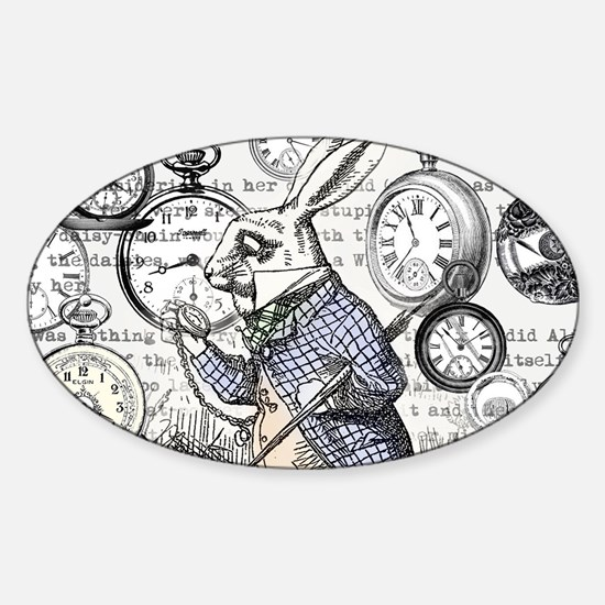 Unique Lewis carroll Sticker (Oval)