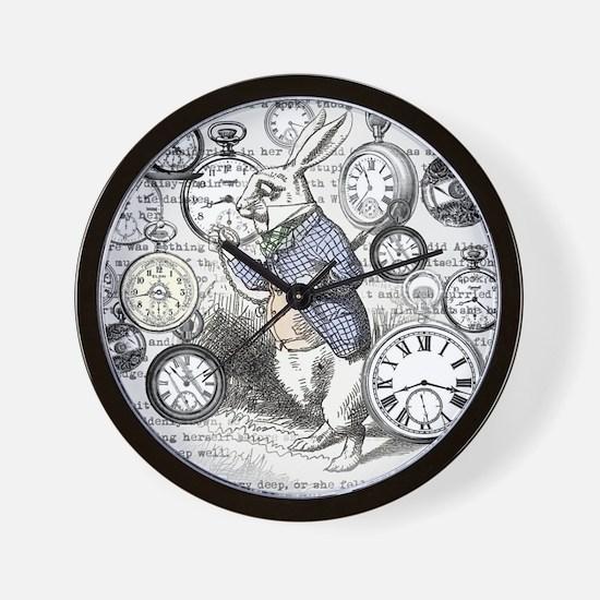 Funny Bunny rabbit Wall Clock