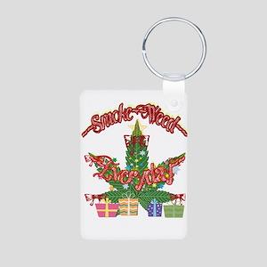 Christmas Weed Humor Keychains