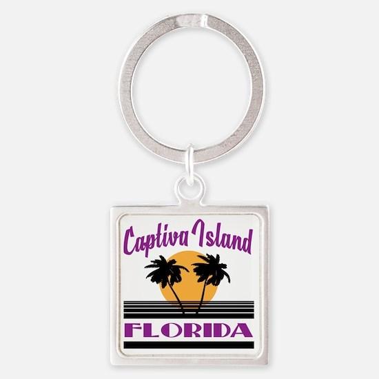 Cool Florida souvenirs Square Keychain
