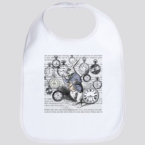White Rabbit Watches Timepiece Alice Baby Bib
