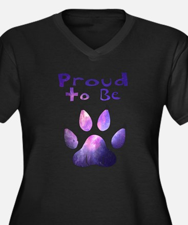 Proud to be Furry Galaxy Plus Size T-Shirt