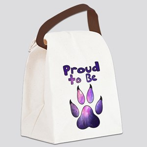Proud to be Furry Galaxy Canvas Lunch Bag