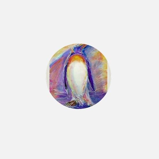Penguin! Colorful, fun, nature art! Mini Button (1