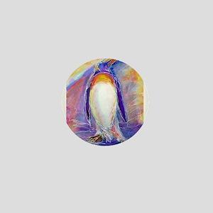 Penguin! Colorful, fun, nature art! Mini Button