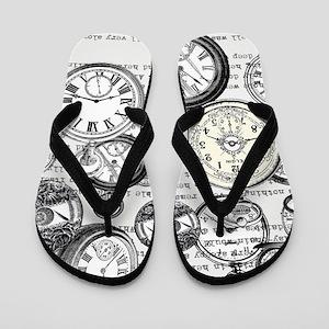White Rabbit Watches Timepiece Alice Flip Flops