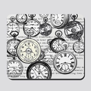 White Rabbit Watches Timepiece Alice Mousepad
