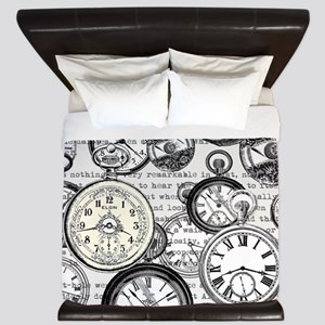 White Rabbit Watches Timepiece Alice King Duvet