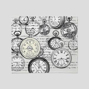 White Rabbit Watches Timepiece Alice Throw Blanket