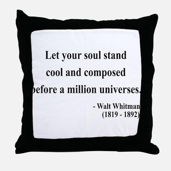 Walter Whitman 5 Throw Pillow