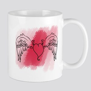 Winged Heart Mugs